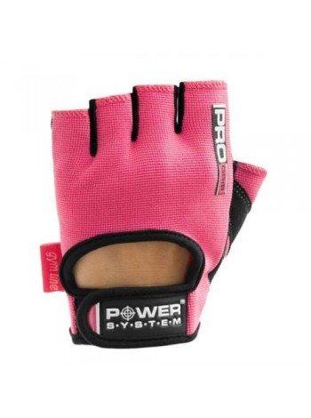 Купить женские перчатки для фитнеса Power System Pro Grip PS-2250 L Pink